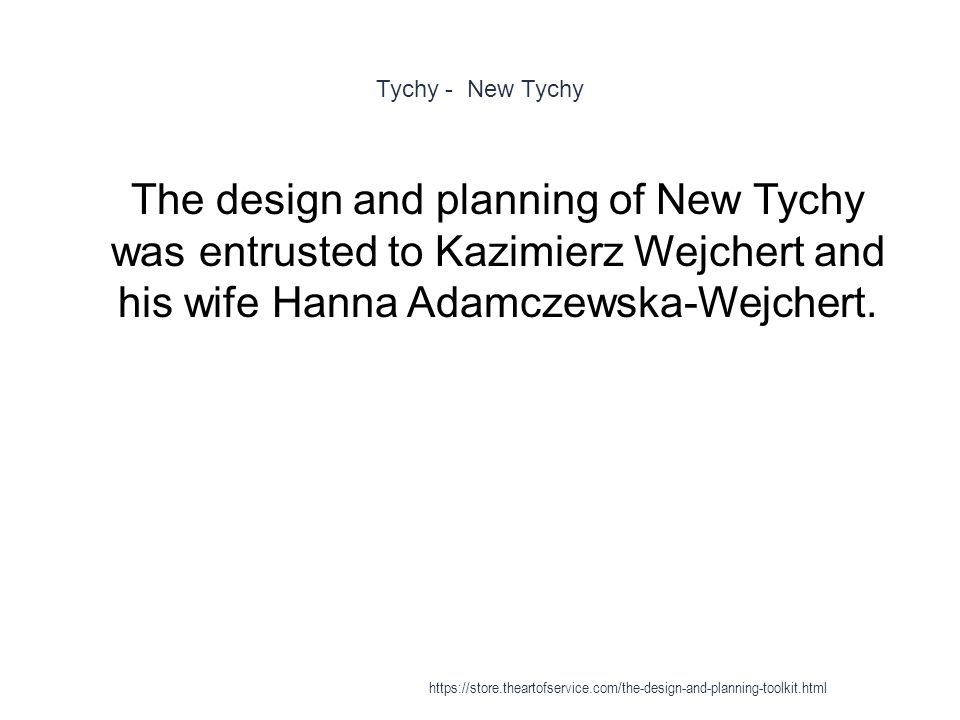 Tychy - New Tychy 1 The design and planning of New Tychy was entrusted to Kazimierz Wejchert and his wife Hanna Adamczewska-Wejchert. https://store.th