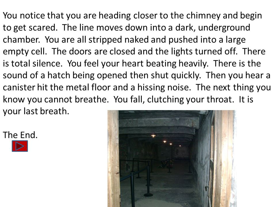 You notice that you are heading closer to the chimney and begin to get scared.