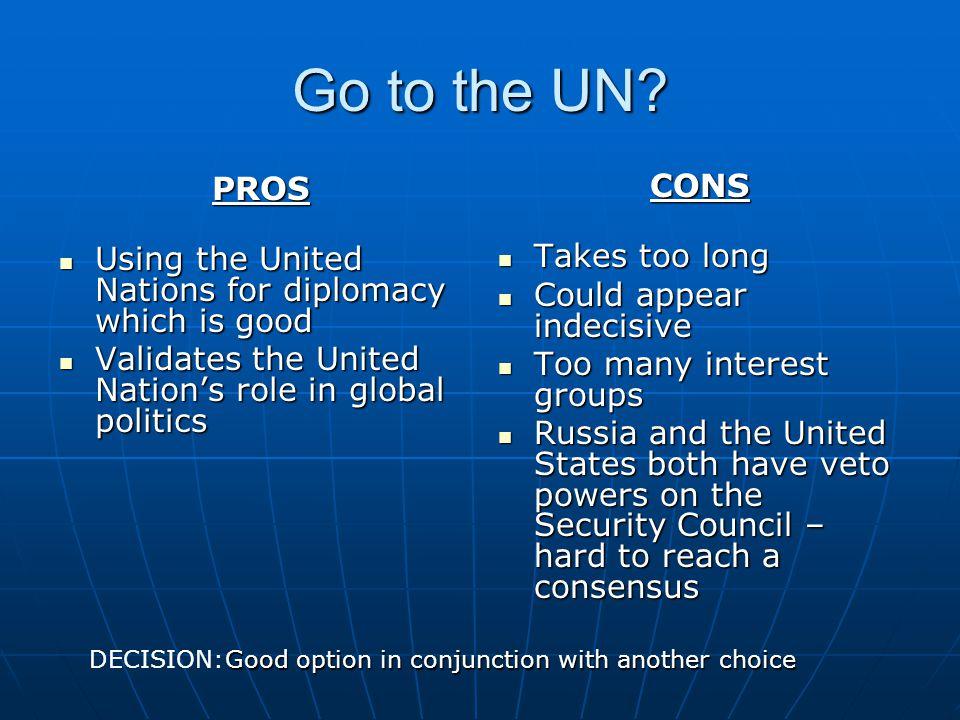 Go to the UN.