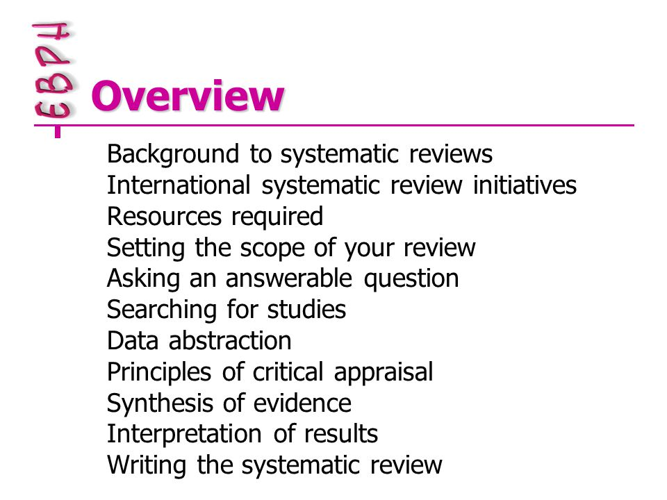 Synthesis of qualitative research In its infancy Widely varying theoretical perspectives Unit of analysis is concept/theme Secondary summary of research Most developed method is meta- ethnography Help is around the corner – many research projects in progress!!