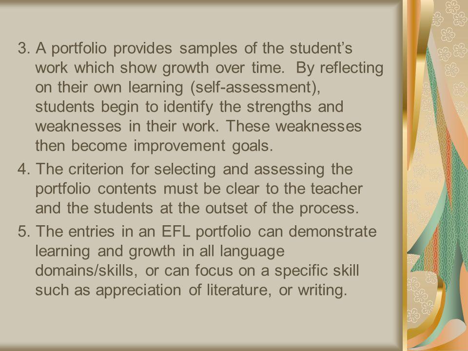 Traditional Assessment vs.Portfolio Assessment (Tierney et al.