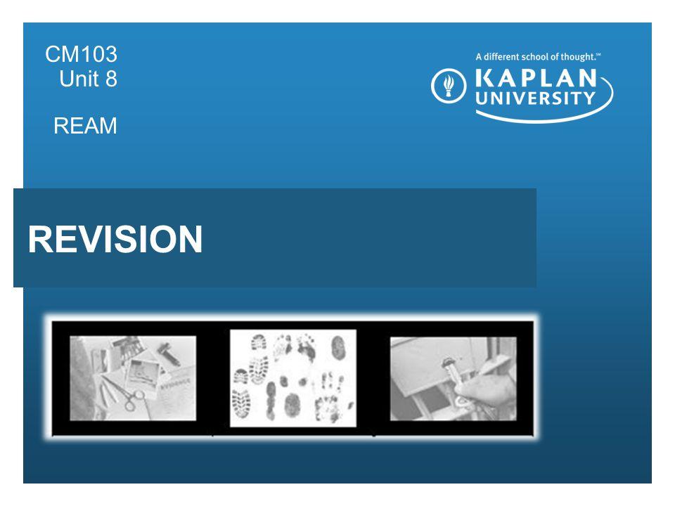 Presentation subhead CM103 Unit 8 REAM REVISION