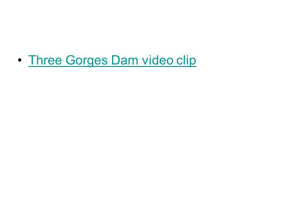 Three Gorges Dam video clip