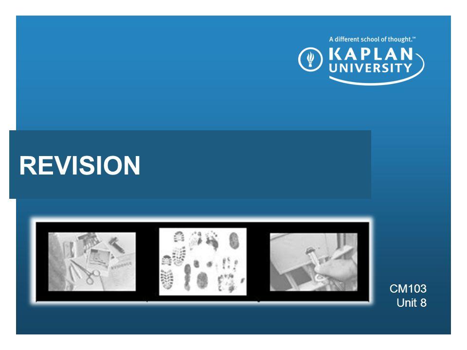 Presentation subhead CM103 Unit 8 REVISION