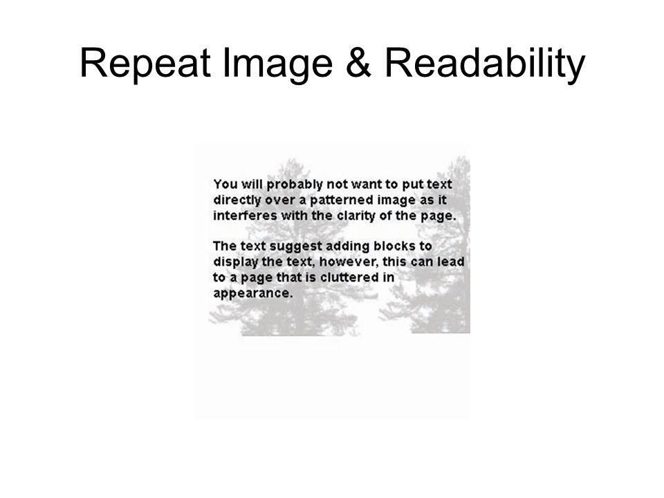 Repeat Image & Readability