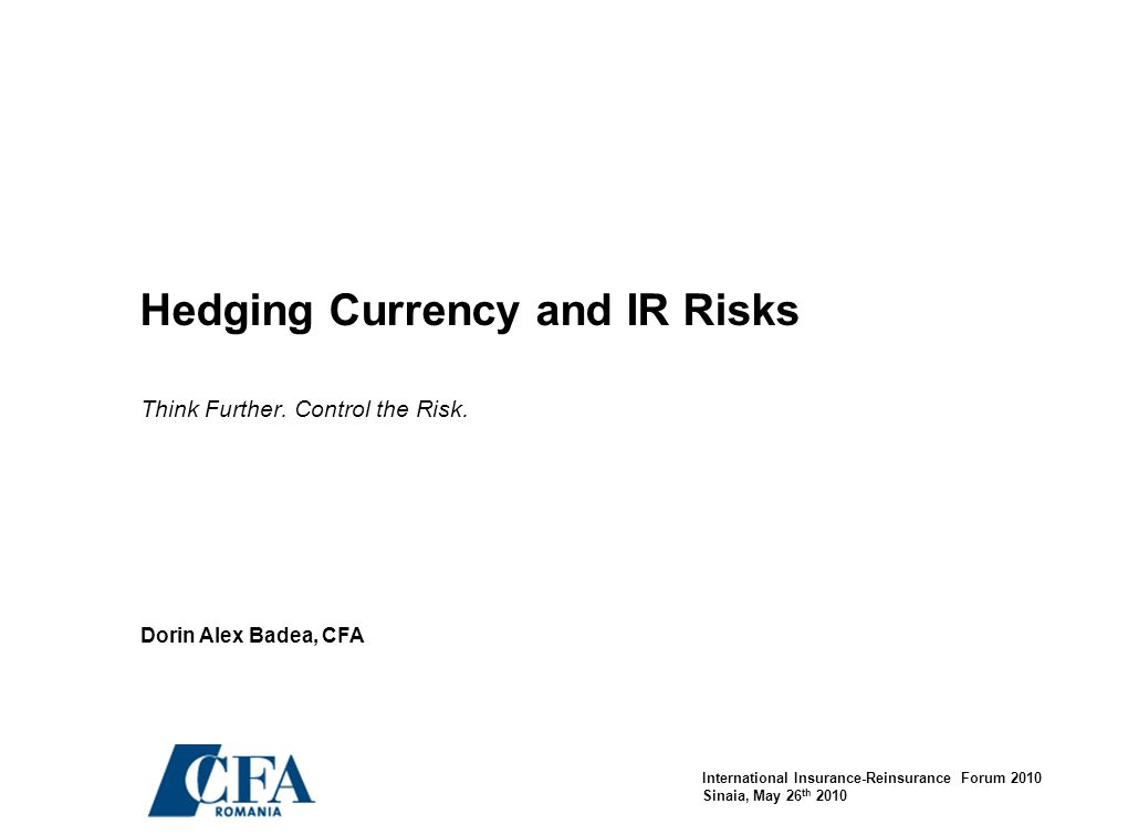 32 Contingent Hedging of CEE FX Risk The Algorithm Mechanics The Maximum Loss rate is determined by the client - for example, a loss of 25% due to adverse FX movements Reference market levels are calculated based on the client's stated Maximum Loss scenario and are expressed in terms of option deltas in order to reflect the likelihood that a certain market level will be reached.