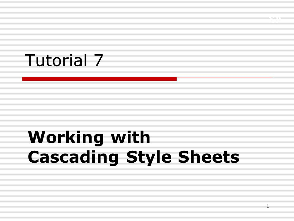 XP 2 Tutorial Objectives  Learn about the history and theory of cascading style sheets  Create inline styles, embedded styles, and style sheets  Understand style precedence and style inheritance  Work with style selectors