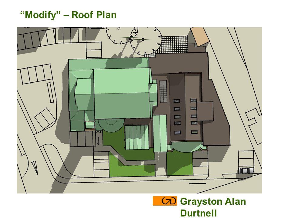 Modify – Roof Plan Grayston Alan Durtnell