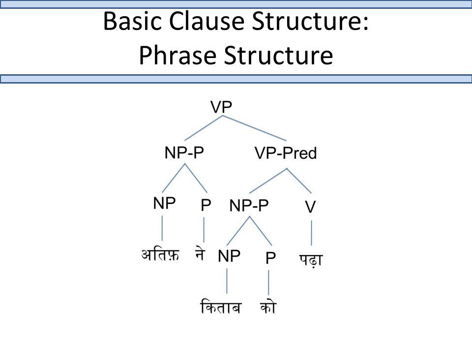 Basic Clause Structure: Phrase Structure