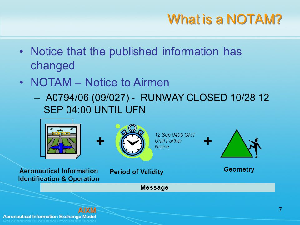 7 What is a NOTAM.