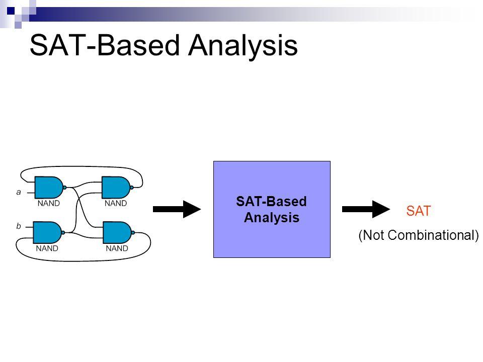 SAT-Based Analysis SAT (Not Combinational) SAT-Based Analysis