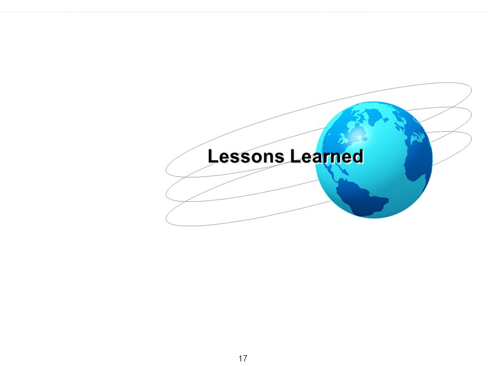17 Lessons Learned