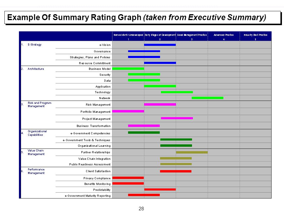 28 Example Of Summary Rating Graph (taken from Executive Summary)