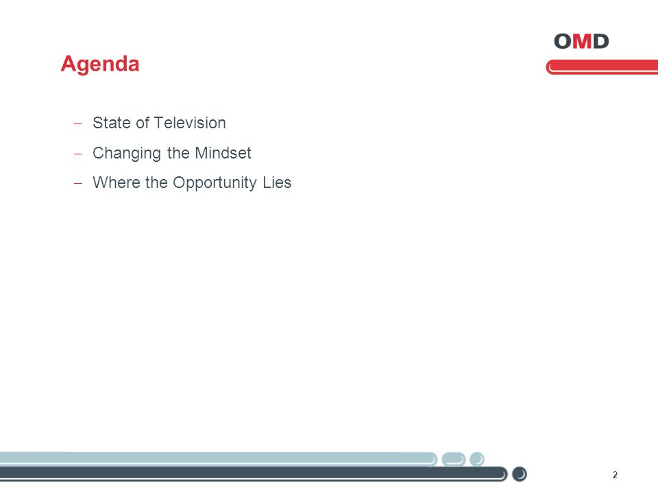 2 Agenda  State of Television  Changing the Mindset  Where the Opportunity Lies
