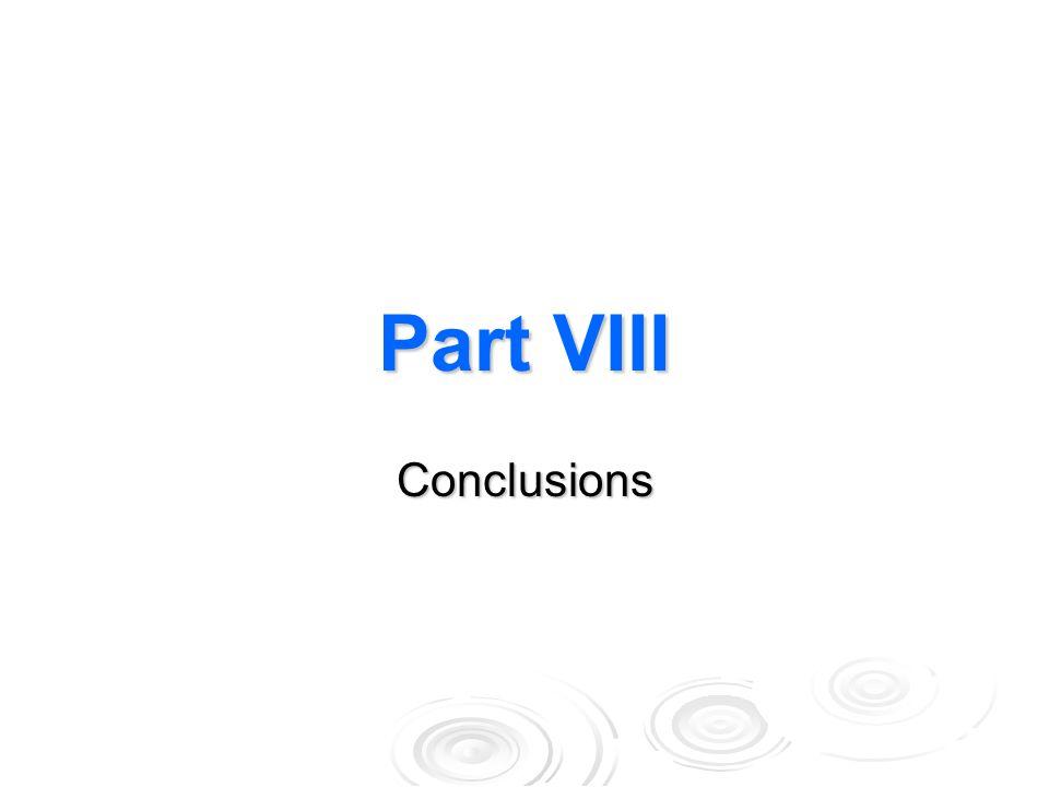 Part VIII Conclusions