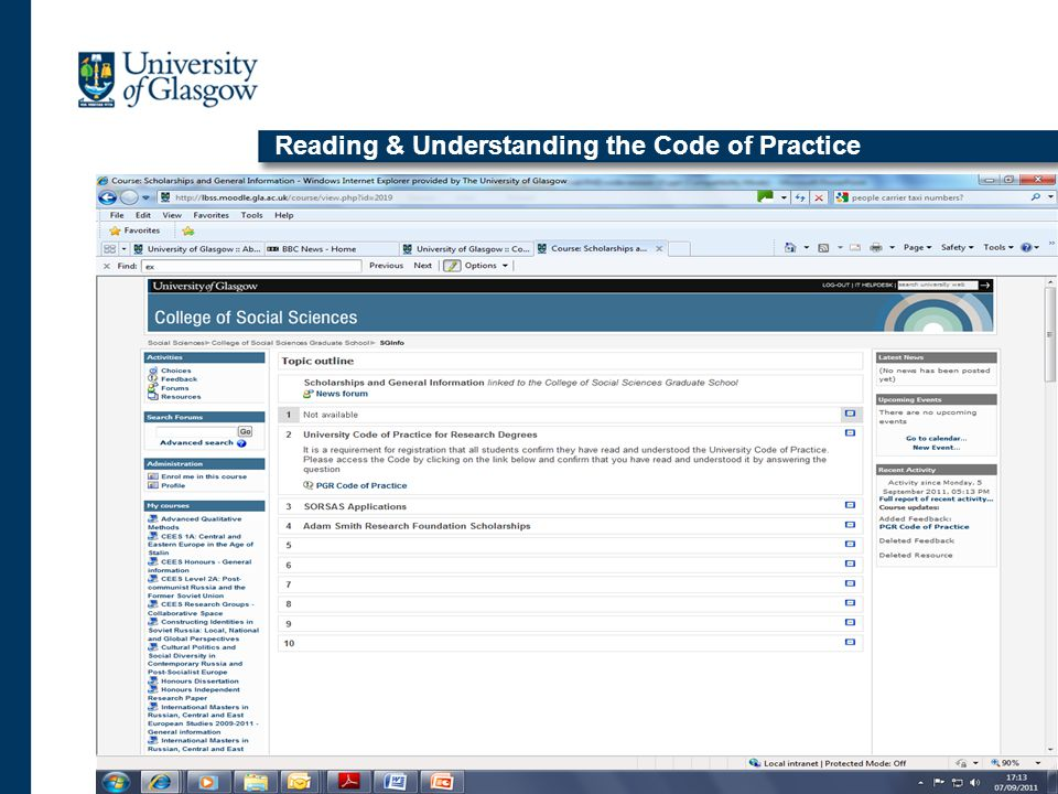 Reading & Understanding the Code of Practice