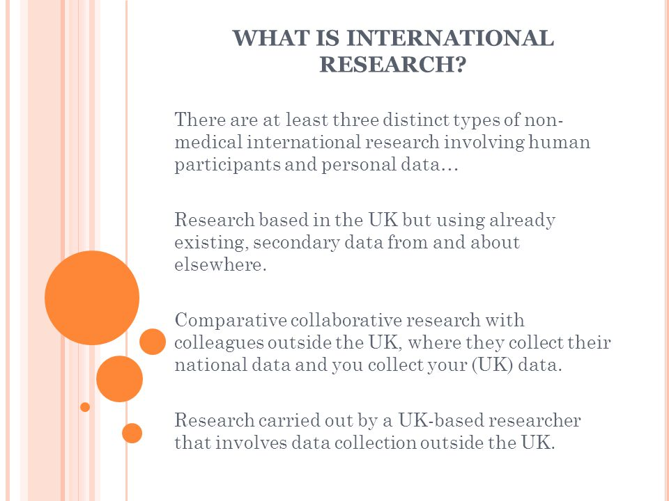 RESEARCH BASED IN THE UK BUT USING ALREADY EXISTING, SECONDARY DATA FROM AND ABOUT ELSEWHERE.