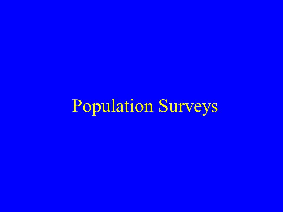 Population Surveys