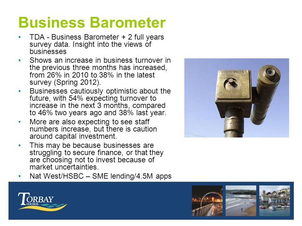 Business Barometer TDA - Business Barometer + 2 full years survey data.