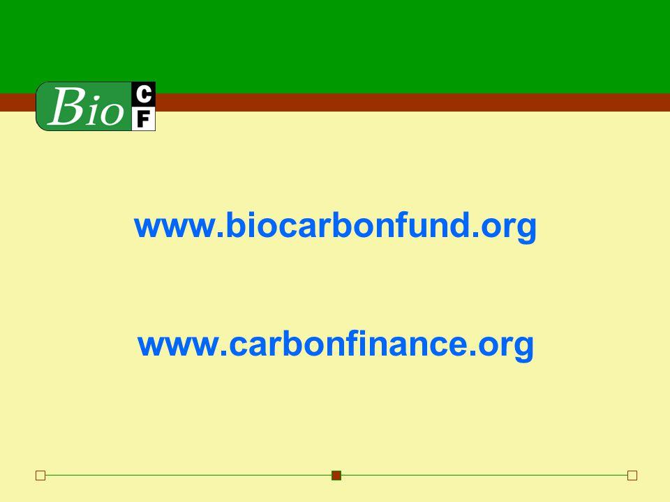 www.biocarbonfund.org www.carbonfinance.org