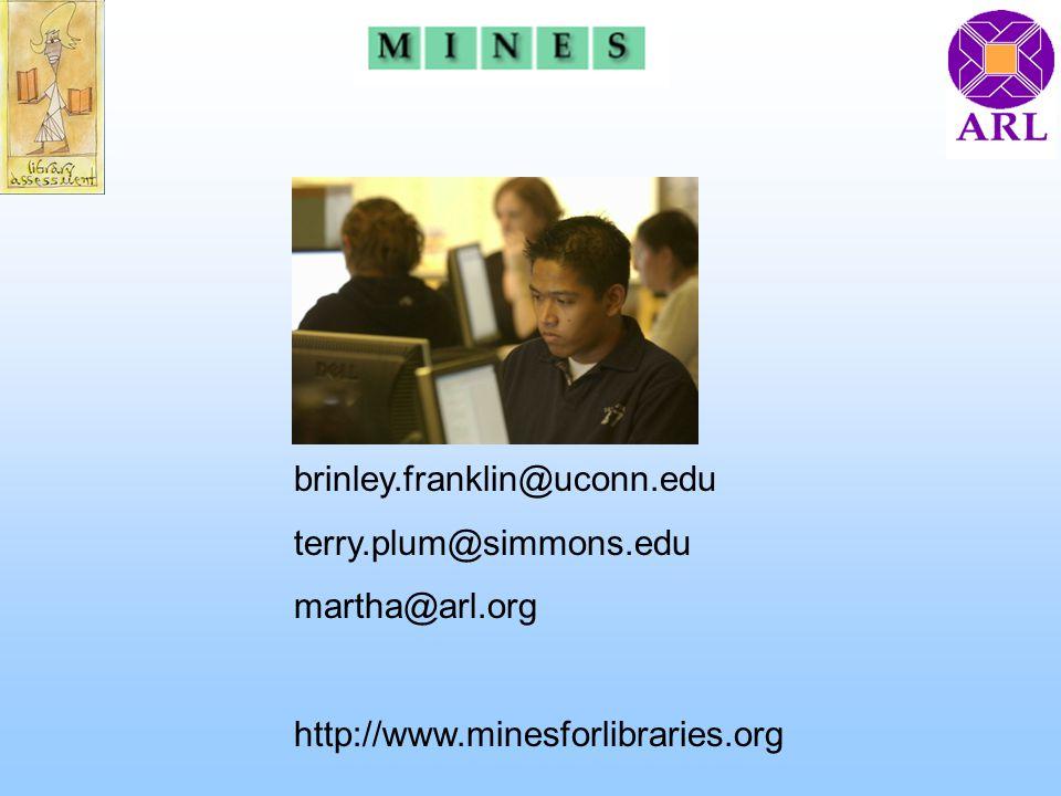 brinley.franklin@uconn.edu terry.plum@simmons.edu martha@arl.org http://www.minesforlibraries.org