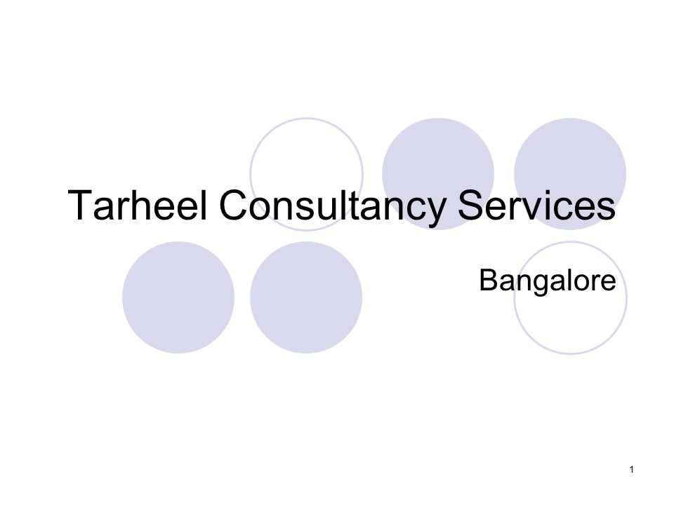 Tarheel Consultancy Services Bangalore 1