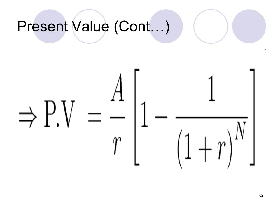 62 Present Value (Cont…)