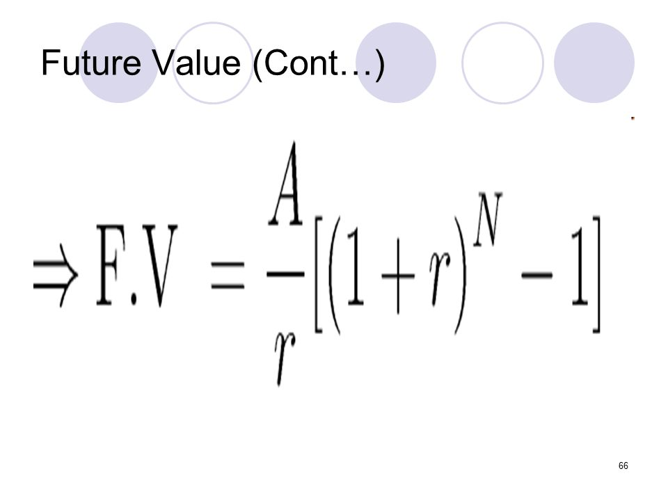 66 Future Value (Cont…)