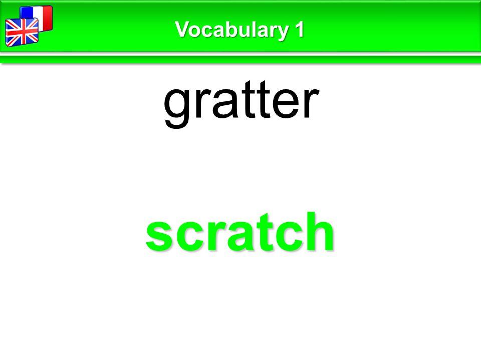 scratch gratter Vocabulary 1