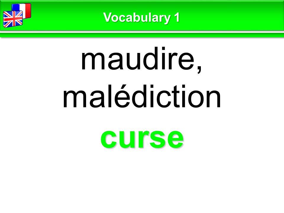 curse maudire, malédiction Vocabulary 1