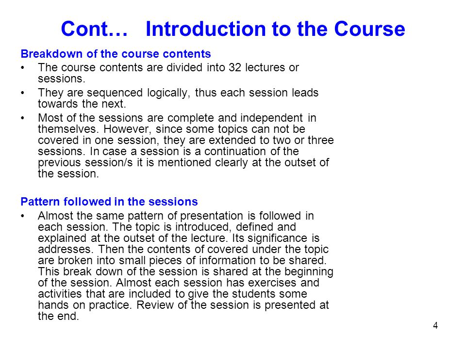 25 Course Contents 1.Introduction to Study Skills 2.