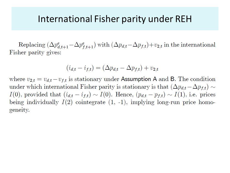 International Fisher parity under REH