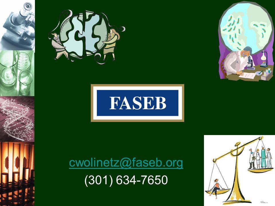 cwolinetz@faseb.org (301) 634-7650