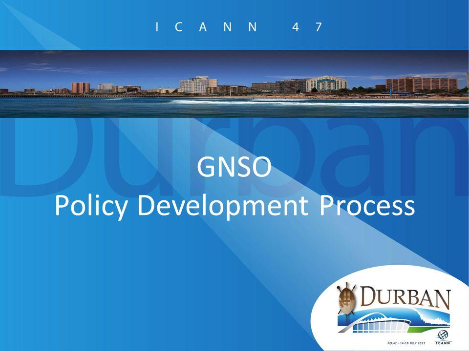 GNSO Policy Development Process
