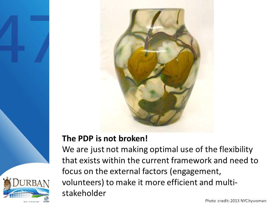The PDP is not broken.