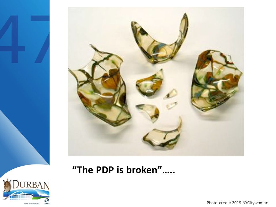 The PDP is broken ….. Photo credit: 2013 NYCitywoman