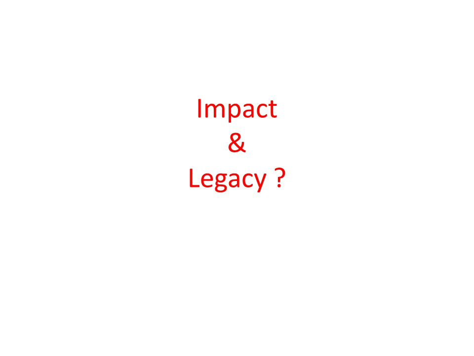 Impact & Legacy