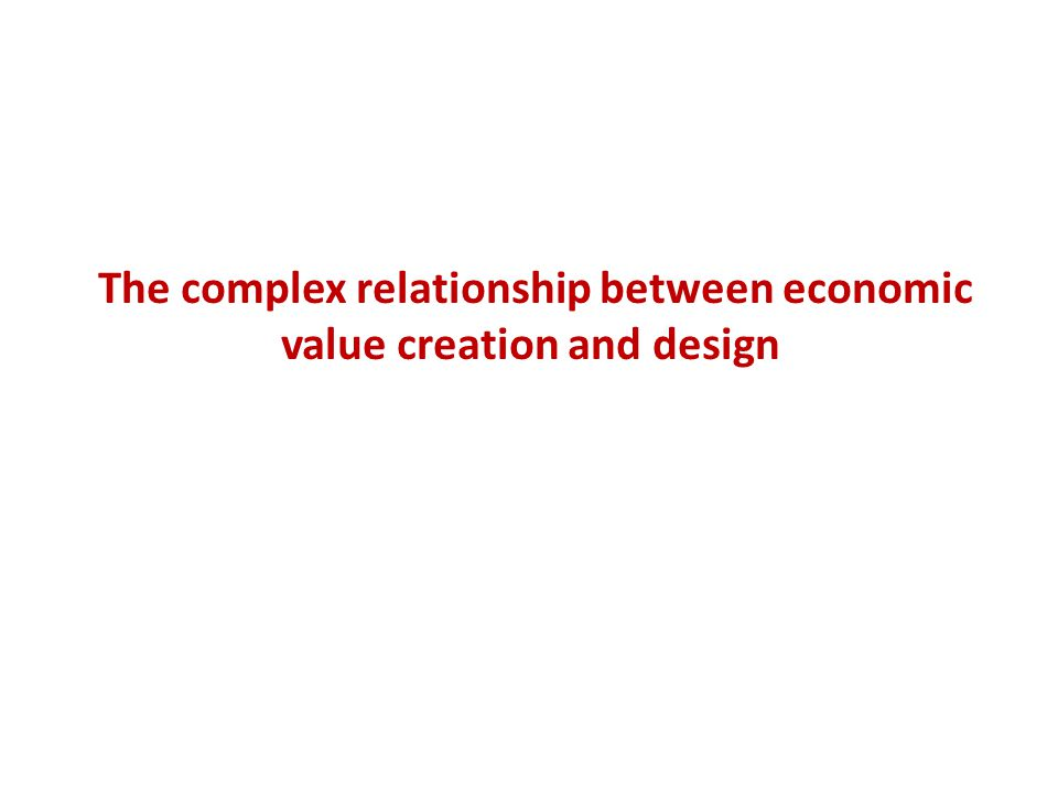 The complex relationship between economic value creation and design