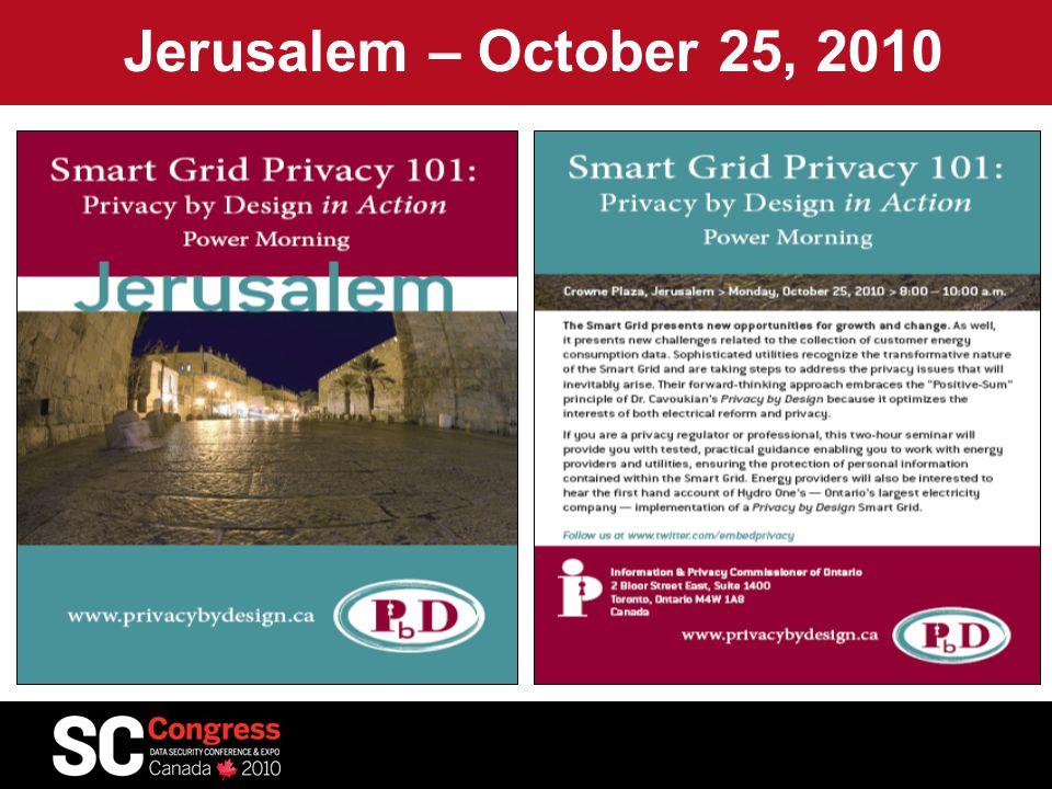 Jerusalem – October 25, 2010