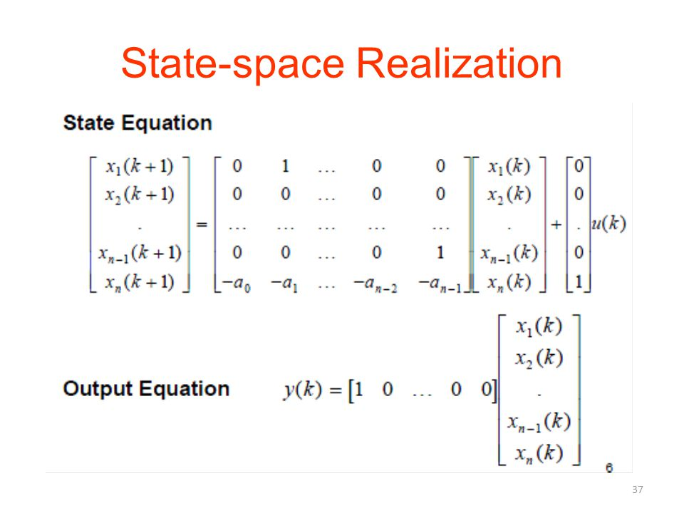 State-space Realization 37