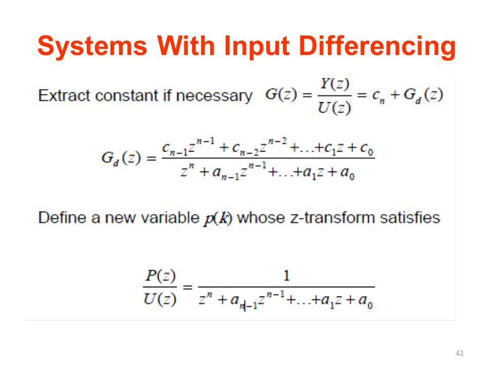 Systems With Input Differencing 42