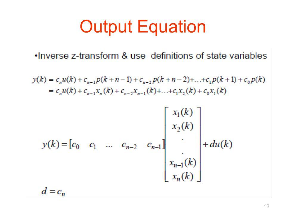 Output Equation 44