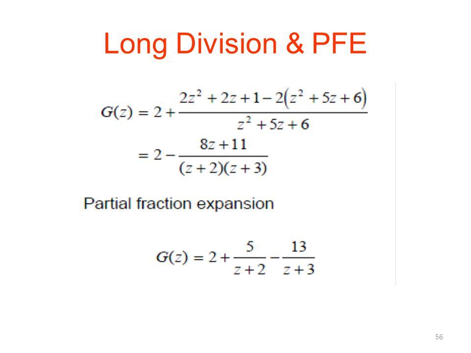 Long Division & PFE 56