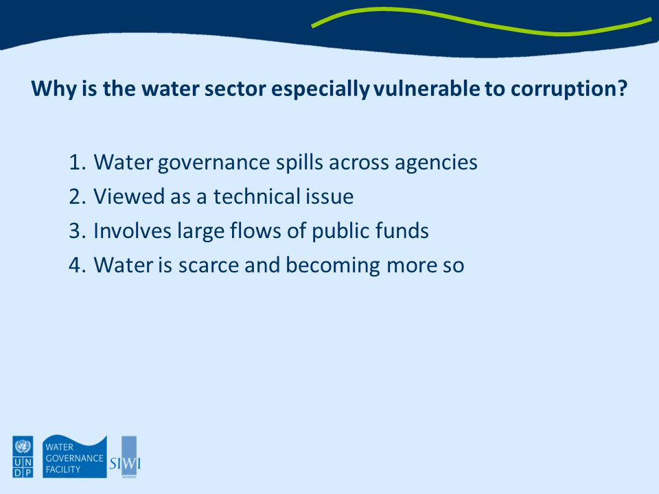 What are some key lessons from tackling corruption in the water sector.