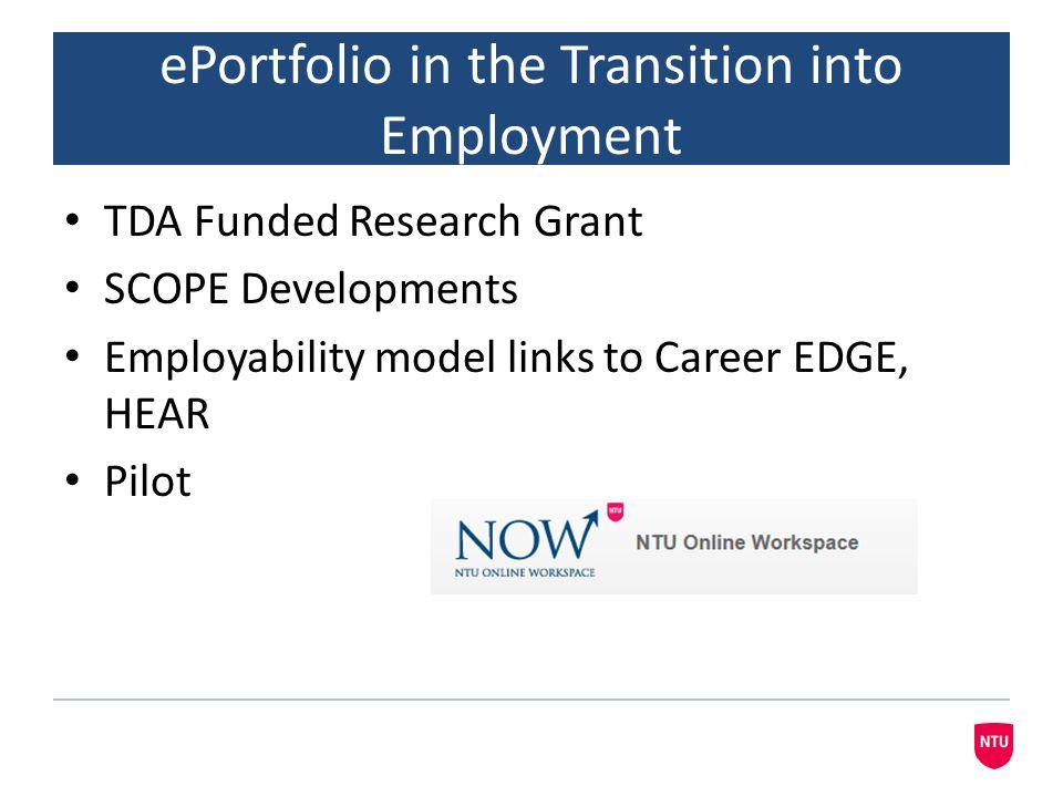 eportfolio and the CareerEDGE Model Career Development Learning Experience (Work & Life) Degree Subject Knowledge, Understanding and Skills Generic Skills Emotional Intelligence