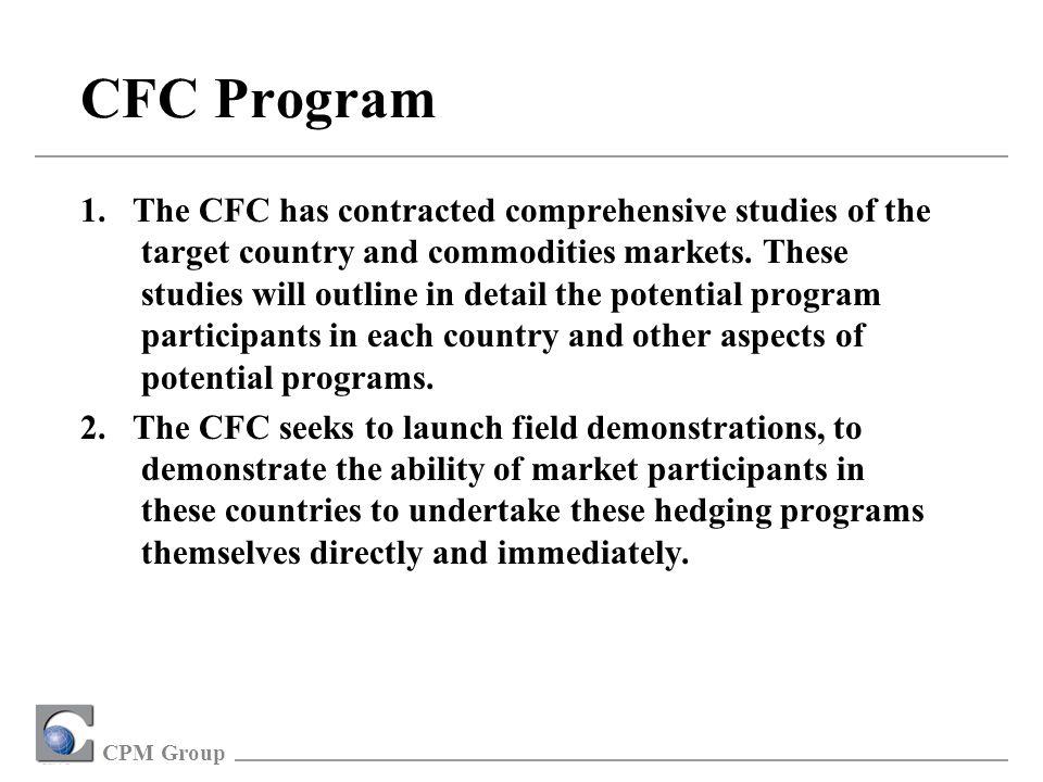 CPM Group CFC Program 1.