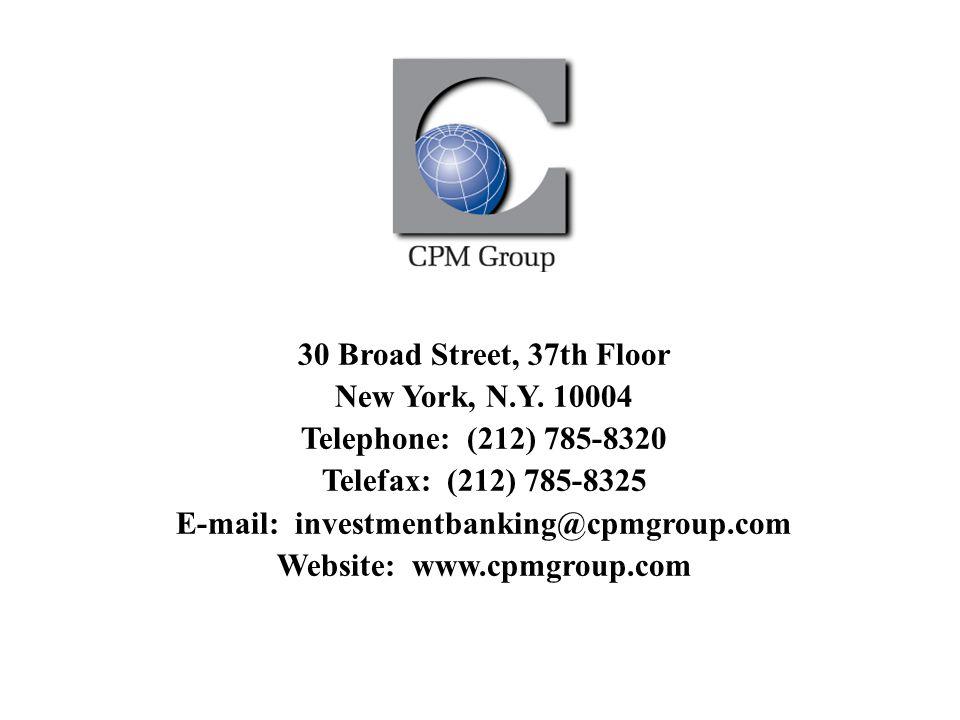 30 Broad Street, 37th Floor New York, N.Y.