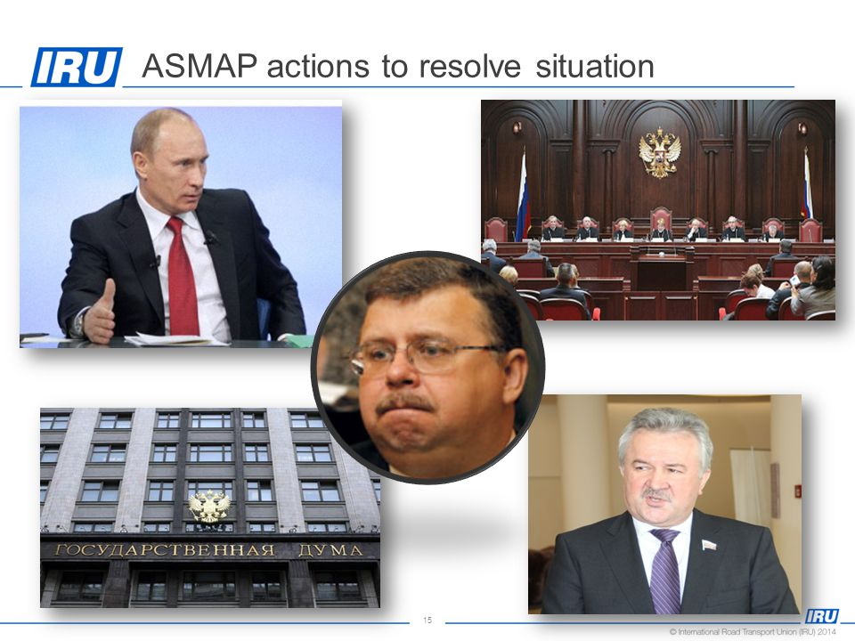 15 ASMAP actions to resolve situation