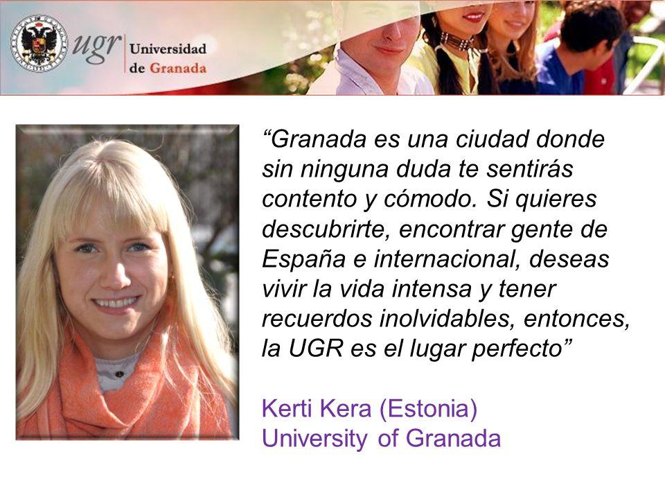 """""""Granada es una ciudad donde sin ninguna duda te sentirás contento y cómodo. Si quieres descubrirte, encontrar gente de España e internacional, deseas"""
