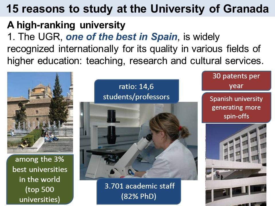La UGR es una universidad abierta, muy dinámica, cosmopolita, por ende el puente universidad - sociedad está muy consolidado, se promueve la investigación y está en constante actualización bibliográfica, académica y cultural Rubén Gonzalo Fernández (Bolivia) University of Granada